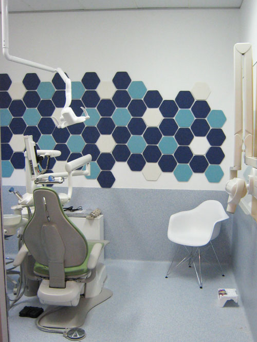 EP Geometry Tile Hex 542 551 500 doctor office healthcare wall 2