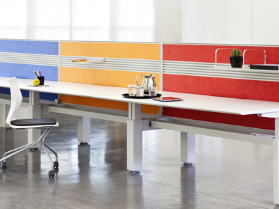 EchoPanels used as desk partition