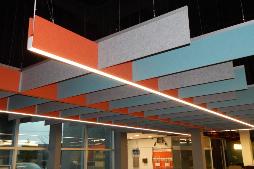Echopanel Acoustical H Baffle Custom Ceiling Grid